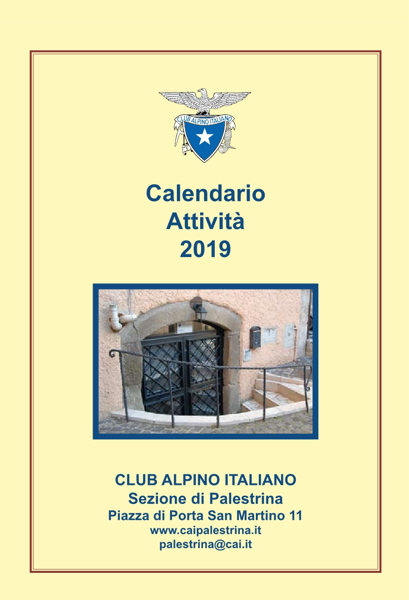 Frontespizio Calendario 2019
